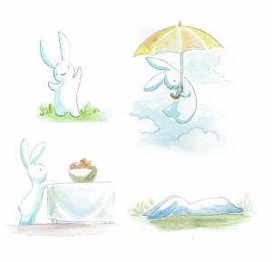 Bunny watercolors