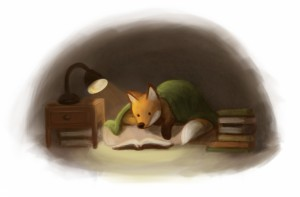 Reading fox